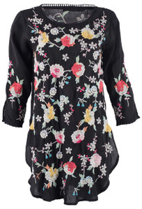 Johnny Was Playa Floral Tunic - Front