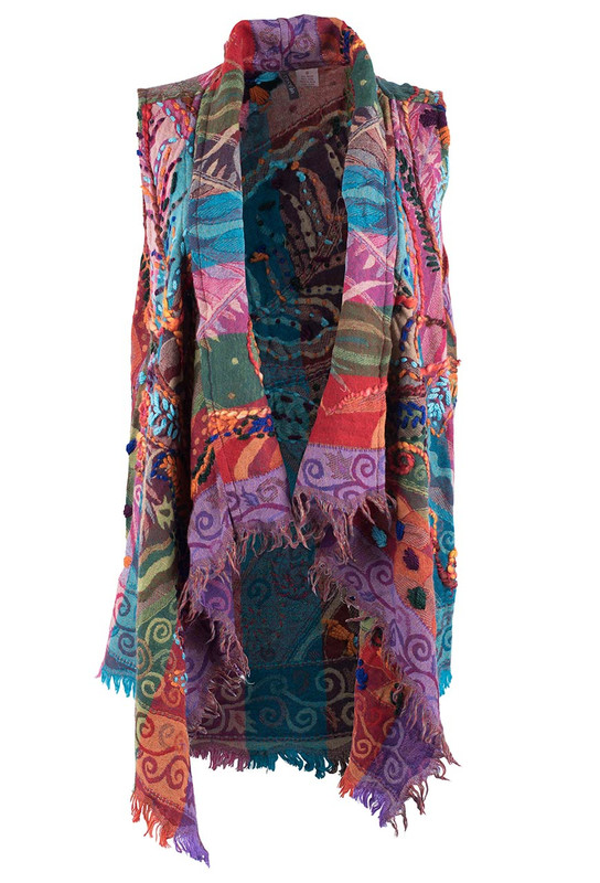 Anu Echo Embroidered Vest - Front