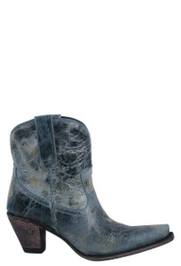 Lane Women's Turquoise Julia Shortie Boots - Side