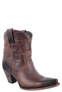 Lane Women's Cognac Julia Shortie Boots