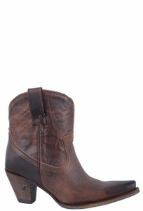 Lane Women's Cognac Julia Shortie Boots - Side