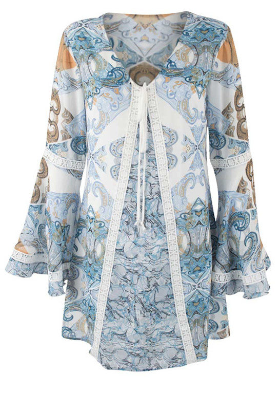 Bronte Channing Print Dress - Front
