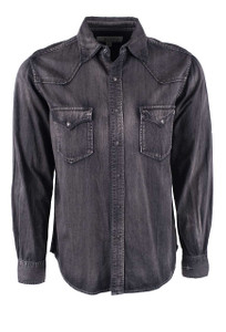 Ryan Michael Black Denim Shirt - Front
