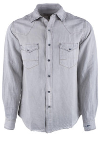 Ryan Michael Grey Patina Pigment Shirt - Front