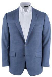 Blue Pebble Weave Western Sport Coat - Front