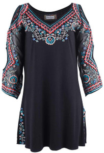 Vintage Collection Black Diamond Tunic - Front