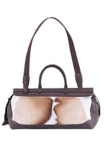 Kulu Premier Brown Springbok Traveler Bag - Front