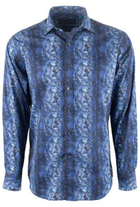 David Smith Australia Midnight Cirrus Print Shirt - Front