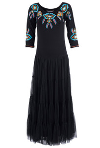 Vintage Collection Sunshine Black Jewelry Dress - Front