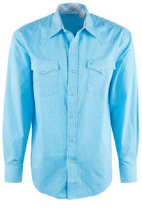 Stetson Blue This and That Patterned Snap Shirt - Front