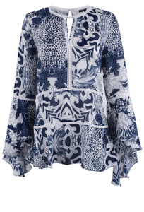 Alberto Makali Floral Cobalt Tunic - Front