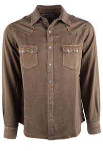 Ryan Michael Hawk Saw Tooth Silk Western Snap Shirt