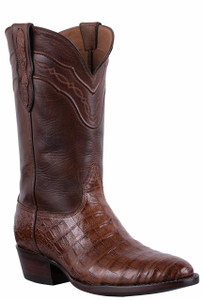 Black Jack for Pinto Ranch Men's Dark Cognac Select Caiman Belly Boots