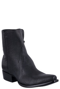 Stallion Men's Zorro Black Lizard Ankle Boots
