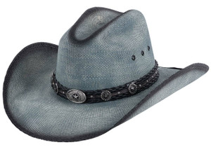 Bullhide Blue Into You Straw Hat