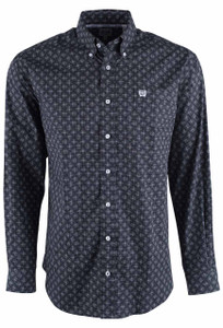Cinch Black Diamond Fade Print Shirt  - Front