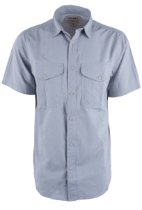 Filson Blue Stone Twin Lakes Short Sleeve Sport Shirt - Front