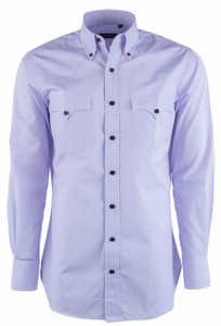 Lyle Lovett for Hamilton Purple Micro Check Poplin Shirt - Front