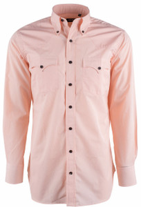Lyle Lovett for Hamilton Orange Micro Check Poplin Shirt - Front