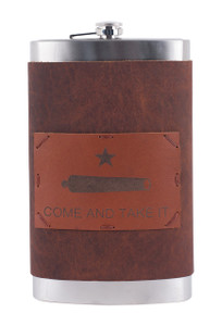 64 OZ Come and Take It Gift Flask - Front