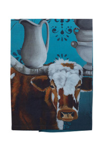 Longhorn and Ironstone Tea Towel