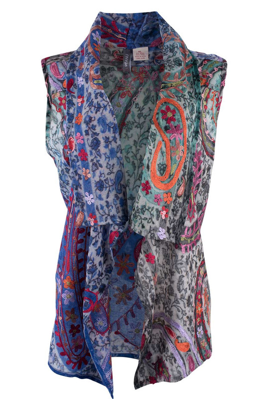 Anu Rivera Embroidered Vest - Front