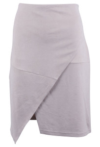 209 WST 38 Short Faux Suede Pencil Skirt - Front