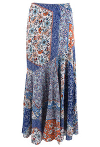 Lola P Patchwork Long Skirt - Front