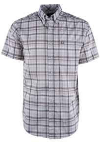 Cinch White Plaid ARENAFLEX Shirt - Front