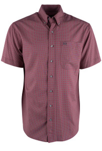 Cinch Red Grid ARENAFLEX Shirt - Front