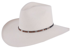 Stetson 8X Silver Horn Straw Hat - Side