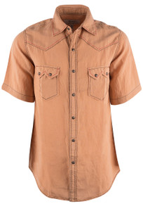 Ryan Michael Sunset Short Sleeve Snap Shirt - Front