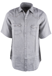 Ryan Michael Stone Short Sleeve Snap Shirt - Front