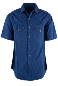 Ryan Michael Bluecorn Short Sleeve Snap Shirt  - Front