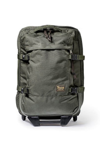 Filson Otter Green Ballistic Nylon Dryden Rolling 2-Wheel Carry-On Bag - Front