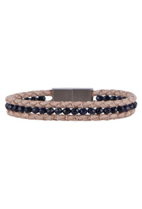Wrapped to Wear Sapphire Clasp Boho Bracelet - Front