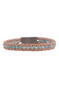 Wrapped to Wear Heishi Amazonite Clasp Boho Bracelet - Front