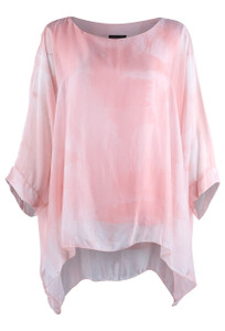 Gigi Ink Coral Poncho - Front