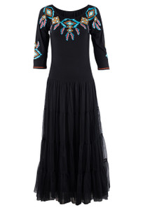Vintage Collection Black Sunshine Jewelry Dress - Front