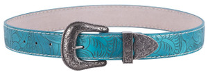 Tooled Turquoise Belt