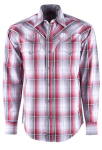 Stetson Red Bloodstone Ombre Snap Shirt - Front