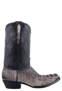 Black Jack for Pinto Ranch Men's Natural Caiman Hornback Boots - Side