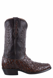 Black Jack for Pinto Ranch Men's Chocolate Inverted Fish Boots  - Side
