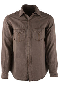 Ryan Michael Oak Split Rail Snap Shirt - Front