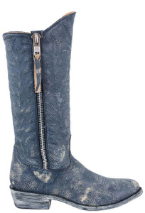 Old Gringo Women's Blue Crackle Razz Boots - Side