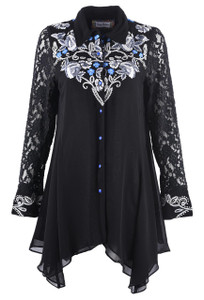 Vintage Collection Blue Ice Tunic- Front