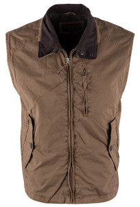 Madison Creek Elk Brown Barracuda Poplin Vest - Front