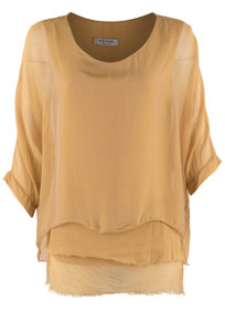 Gigi 3/4 Sleeve Top with Tier Bottom - Front