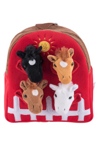 Plush Horse Backpack - Front