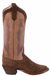 Rios of Mercedes Tobacco Sueded Brave Cowgirl Boots - Side